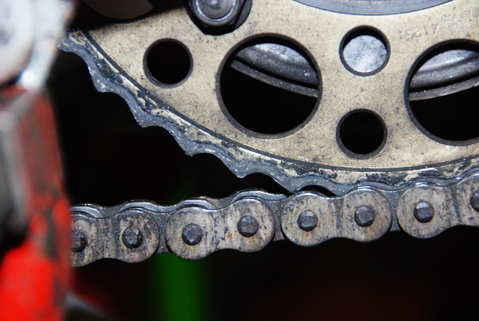 Check your chain and lube it every week. This is what happens if you do not.